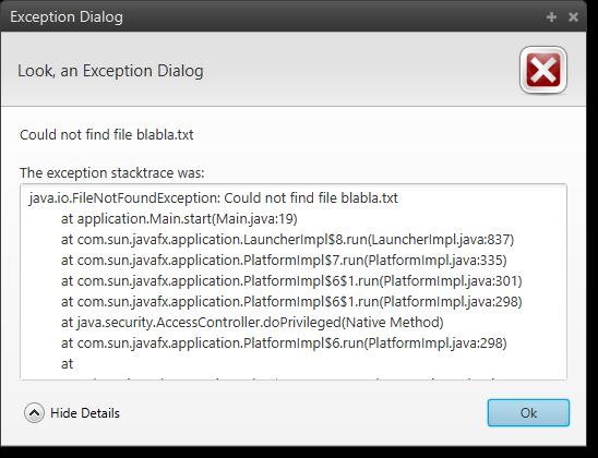 JavaFX 8 Dialogs | code makery ch